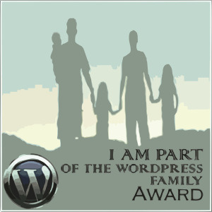 "Gracias por el premio ""I am part of the wordpress family Award"""