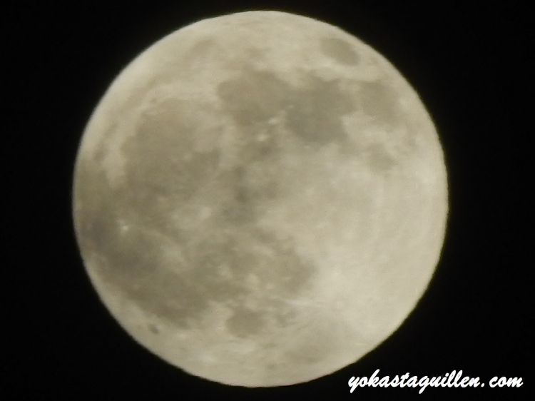 La Luna horas antes del Eclipse total  04/15/14